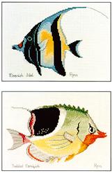 Borduurpatroon Moorish Idol & Saddled Coralfish - Ross Originals