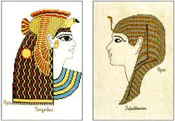 Borduurpatroon Nerfertari and Tutankhamen - Ross Originals