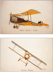 Borduurpatroon British Sopwith German Albatros - Ross Originals