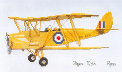 Borduurpatroon Tiger Moth - Ross Originals