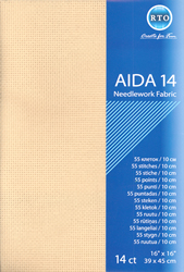 Fabric Aida 14 count - Beige - RTO