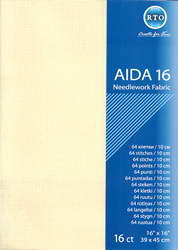 Fabric Aida 16 count - Ecru - RTO