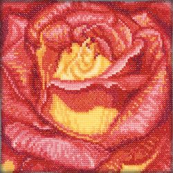 Borduurpakket Red Rose - RTO