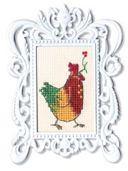 Borduurpakket Framed Art Rooster - RTO