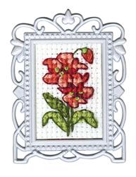 Borduurpakket Framed Art Red Flower - RTO