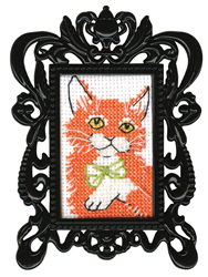 Borduurpakket Framed Art Red Cat - RTO