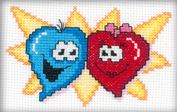Borduurpakket Lovely hearts - RTO