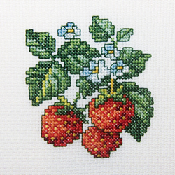 Borduurpakket Wild strawberries - RTO
