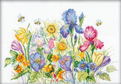 Borduurpakket Garden flowers - RTO