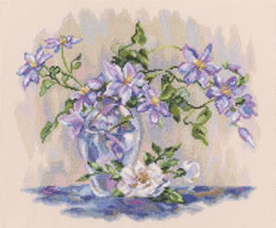 Borduurpakket Purple Clematis - RTO