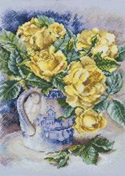 Borduurpakket Yellow roses - RTO
