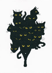 Borduurpakket Among Black Cats - RTO