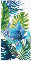 Borduurpakket Blue flower - RTO