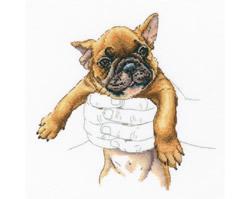 Borduurpakket In Palms - French Bulldog - RTO