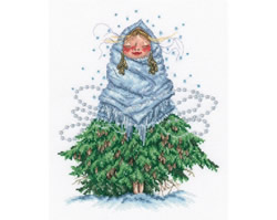 Cross stitch kit Don't Be Cold, Little Fir - RTO