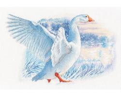 Borduurpakket Snow Goose - RTO