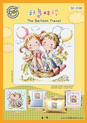 Borduurpatroon The Balloon Travel - Soda Stitch
