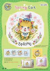 Borduurpatroon Spring Cat - Soda Stitch