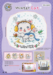 Borduurpatroon Winter Cat - Soda Stitch