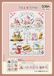 Borduurpatroon Tea Time - Soda Stitch