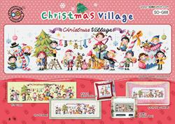 Borduurpatroon Christmas Village - Soda Stitch