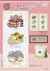 Borduurpatroon Flower Cake - Soda Stitch