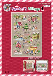 Borduurpatroon Santa's Village 1 - Soda Stitch