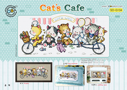 Borduurpatroon Cat's Cafe - Soda Stitch