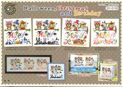 Borduurpatroon Halloween, Christmas & Birthday - Soda Stitch
