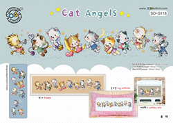 Borduurpatroon Cat Angels - Soda Stitch