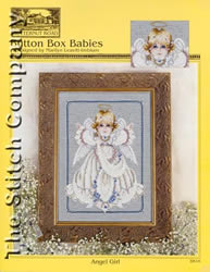 Borduurpatroon Button Box Babies: Angel Girl - TIAG Butternut Road