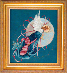 Borduurpatroon Blue Moon Angel - TIAG Lavender & Lace
