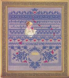 Borduurpatroon Fallen Roses - TIAG Lavender & Lace