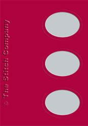 3 Passe-partout kaarten met Envelop Bordeaux - The Stitch Company