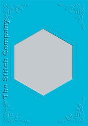 3 Passe-partout kaarten met Envelop Ocean Blue - The Stitch Company