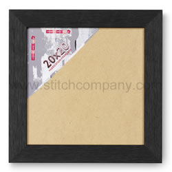 Wissellijst hout 20 x 20 cm, zwart - The Stitch Company