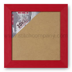 Wissellijst hout 20 x 20 cm, rood - The Stitch Company