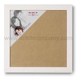Wissellijst hout 30 x 30 cm, wit - The Stitch Company