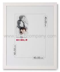 Wissellijst hout 40 x 50 cm, wit - The Stitch Company