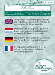 Materiaalpakket Fallen Roses - The Stitch Company