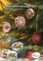 Borduurpatroon Kerstboomhangertjes - The Stitch Company