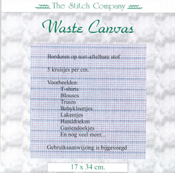 Waste Canvas ± 17x34 cm - The Stitch Company