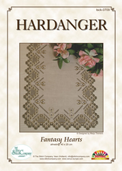 Hardangerpakket Fantasy Hearts - The Stitch Company
