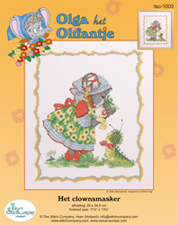 Borduurpakket Het Clownsmasker - The Stitch Company