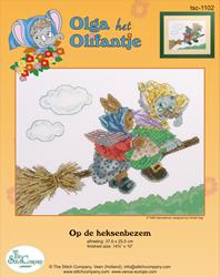 Borduurpakket Op de Heksenbezem - The Stitch Company