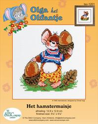 Borduurpakket Het Hamstermuisje - The Stitch Company