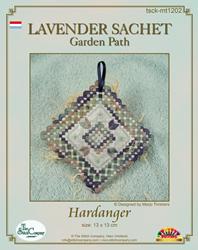Hardangerpakket Lavender Sachet Garden Path - The Stitch Company
