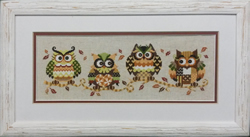 Borduurpakket The Owl Family - The Stitch Company