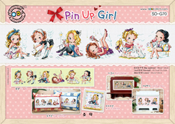 Borduurpakket Pin Up Girls - The Stitch Company