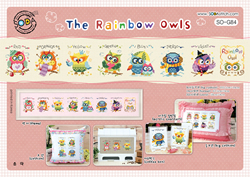 Borduurpakket The Rainbow Owls - The Stitch Company
